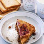 Gluten Free Bread & Butter-less Pudding w/ Homemade Chia Jam