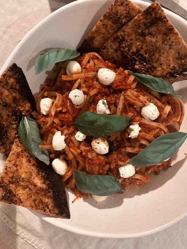 Chilli Basil Rice Noodle Pasta