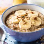 Banoffee Rolled Oats Porridge