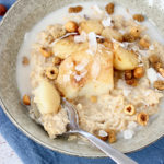 Winter Porridge with Maple-Roasted Pears & Hazelnuts