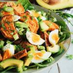 Sweet Potato Salad with Tahini Dressing