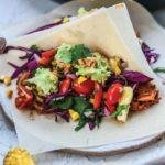 Smokey BBQ Jackfruit Tacos with charred corn