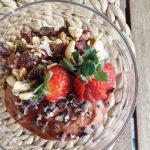 Strawberry Cacao Smoothie Bowl