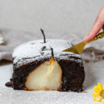 Chocolate Loaf with Poached Pears