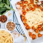 Creamy Pumpkin and Spinach Pasta