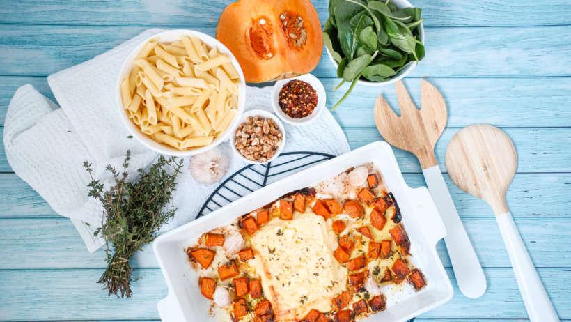 yummy pumpkin and feta pasta recipe
