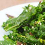 Kale Salad with Sea Spaghetti & Ginger